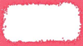 Rote Buntglasrahmenillustration stockfoto