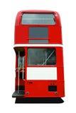 Rote Bus-Rückseite Stockfoto