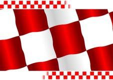 Rote checkered Markierungsfahne Stockbild