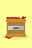 Rote chilis Stockfotografie