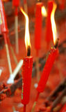 Rote chinesische Kerzen Stockfotos