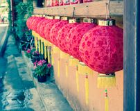 Rote chinesische Lampe Lizenzfreies Stockfoto