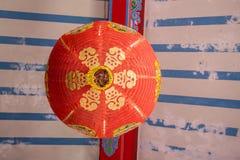 Rote chinesische Laterne Stockbild