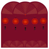 Rote chinesische Laterne - Illustration Stockfoto