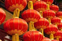 Rote chinesische Laternen Stockbild