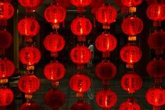Rote chinesische Laternen Lizenzfreie Stockfotos