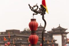 Rote chinesische Laternen Lizenzfreies Stockbild