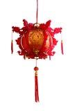 Rote chinesische Papierlaterne Stockfotografie