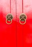 Rote chinesische Tür Lizenzfreies Stockfoto