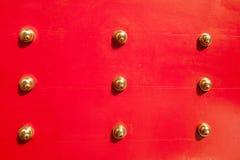 Rote chinesische Tür Stockfoto