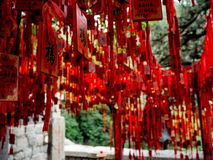 Rote chinesische Taoistbänder Lizenzfreie Stockbilder