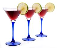 Rote Cocktails stockfoto