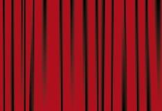 Rote courtains Stockbild
