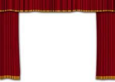 Rote courtains Stockfoto