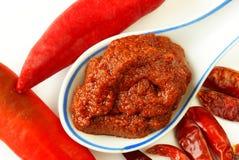 Rote Currypaste Stockbild
