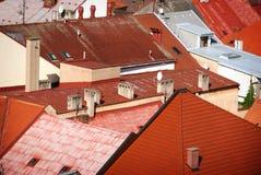 Rote Dächer Lizenzfreie Stockbilder