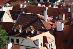Rote Dächer Stockbild