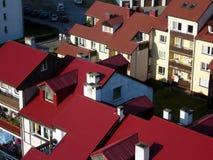 Rote Dächer Stockfotografie