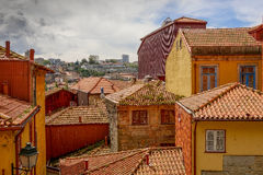 Rote Dächer der alten Stadt, Porto, Portugal stockbild