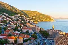 Rote Dächer im UNESCO-Erbe Dubrovnik Stockfotos