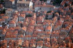 Rote Dächer von Dubrovnik Lizenzfreie Stockfotografie