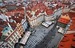 Rote Dächer von Prag Lizenzfreie Stockbilder
