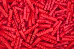 Rote Dübelbeschaffenheit Lizenzfreie Stockfotografie