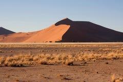 Rote Dünen von sossusvlei Stockfotos