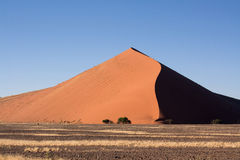 Rote Dünen von sossusvlei Stockfotografie