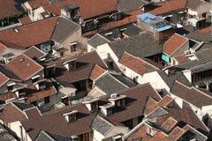 Rote Dachspitzen Lizenzfreies Stockfoto