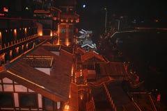 rote Dachspitzen von Chongqing-Stadt in China Lizenzfreie Stockfotos