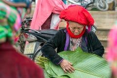 Rote Dao-Frau in Sapa, Vietnam Lizenzfreie Stockfotografie