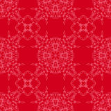Rote dekorative nahtlose Linie Muster Lizenzfreie Stockbilder