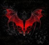 Rote Dracheflügel Stockbild