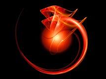 Rote Drachen stock abbildung