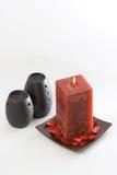 Rote duftende Kerze Stockfotografie