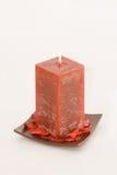 Rote duftende Kerze Lizenzfreie Stockfotos