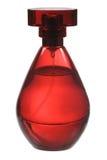 Rote Duftstoffflasche lizenzfreie stockfotos