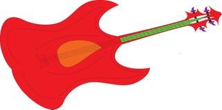 Rote E-Bass-Gitarre Stockfotografie