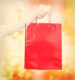 Rote Einkaufstasche Lizenzfreie Stockfotografie