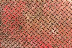 Rote Eisenplatte stockfoto