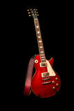 Rote elektrische Gitarre Stockfotos