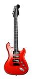 Rote elektrische Gitarre Stockbild