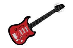 Rote elektrische Gitarre Stockfoto