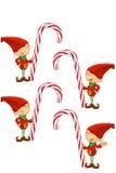 Rote Elfe - Halten der Zuckerstange Lizenzfreie Stockfotografie