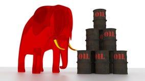 Rote Energie Stockbild