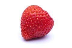 Rote Erdbeere mit Schatten Stockfotos