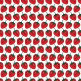 Rote Erdbeernahtloses Muster Lizenzfreie Stockfotos