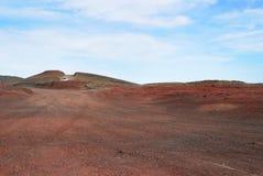 Rote Erde in Island Stockfotografie