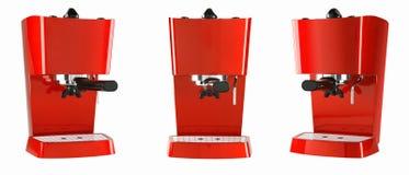 Rote Espressomaschine Stockbild